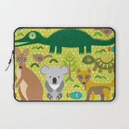 Animals Australia snake, turtle, crocodile, alliagtor, kangaroo, dingo Laptop Sleeve
