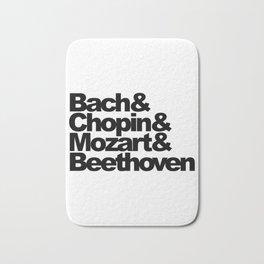 Bach and Chopin and Mozart and Beethoven Bath Mat