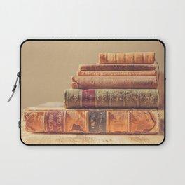 Vintage Book Stack (Color) Laptop Sleeve