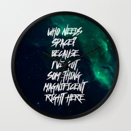 Who Needs Space? Wall Clock
