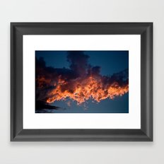 Clouds On Fire Framed Art Print