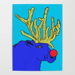 Rudolph The Red Nose Raindeer Poster