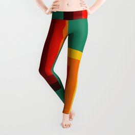 Karora - Classic Retro Summer Style Stripes Leggings