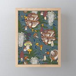 mushroom forest Framed Mini Art Print