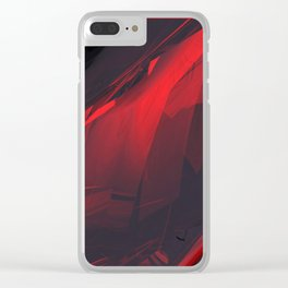 Cherry Marble 01 Clear iPhone Case