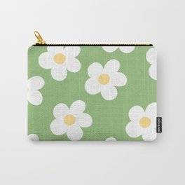 Retro 60's Flower Power Print 2 Carry-All Pouch