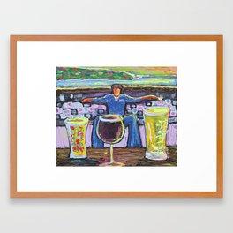Man vs. Vice Framed Art Print
