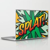 comic book Laptop & iPad Skins featuring Comic Book SPLAT! by The Image Zone