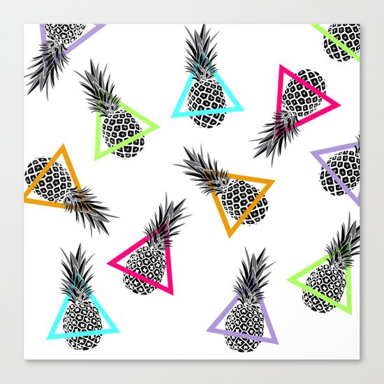 Pineapples & Triangles Canvas Print