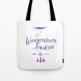 Harry Wingardium Leviosa spell Tote Bag