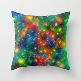 Swirls of Color. Throw Pillow