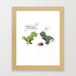 Did you eat the last Unicorn ? Framed Art Print