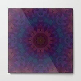 Quilt Mandala Metal Print