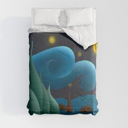 van gogh Starry night Comforters