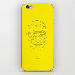 One Line Breaking Bad: Heisenberg iPhone Skin