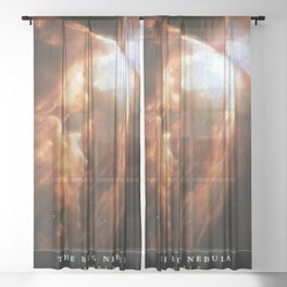 NASA Hubble Space Telescope Poster - The Bug Nebula Sheer Curtain