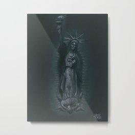 Virgen de Nueva York Metal Print