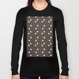 Cappuccino Brown Triangle Long Sleeve T-shirt