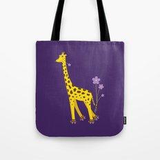 Funny Giraffe Roller Skating Tote Bag