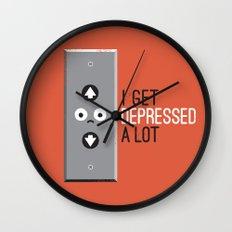 Feeling Down Wall Clock