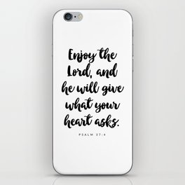 Psalm 37:4 - Bible Verse iPhone Skin