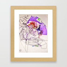 The man who sold the world (portrait) Framed Art Print