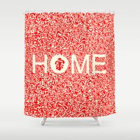 pasta Shower Curtains featuring Home:家 by aPersonalidea