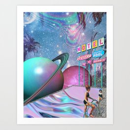 Barbie DreamMotel - Trippy Collage Art Print