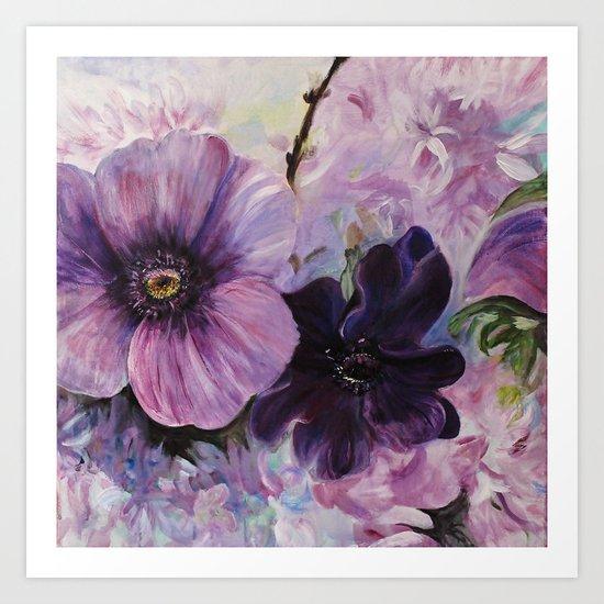 Bleu de printemps Art Print