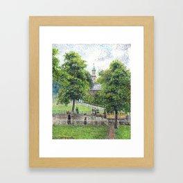 """Camille Pissarro """"Saint Anne's Church at Kew"""" (1892) Framed Art Print"""
