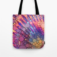 bubbles Tote Bags featuring bubbles by Sylvia Cook Photography