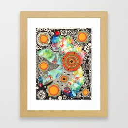 Sunbaked Heart Framed Art Print