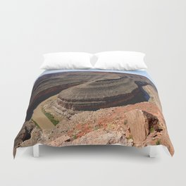 A Meander Of The Goosenecks Duvet Cover