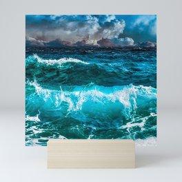 Cool Blue Ocean Waves  Mini Art Print