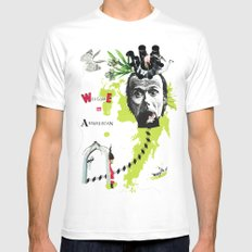 welcome to absurdistan/ no. 103/365 Mens Fitted Tee White MEDIUM