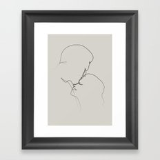 silent kiss Framed Art Print