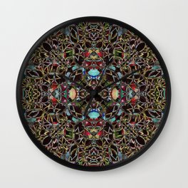 Persian-Style Motif (Premium Sun Crimson Gold Coleus) Wall Clock
