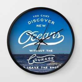 Discover New Oceans Wall Clock