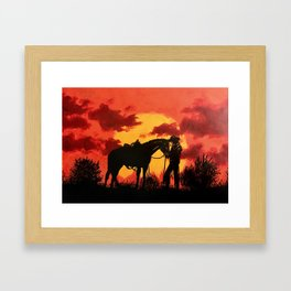 Red 2 Framed Art Print