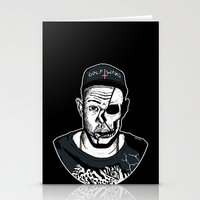 tyler the creator Stationery Cards featuring Golf Wang - Tyler The Creator Skull Ink Print by zombieCraig