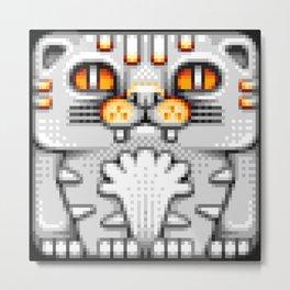 Cat Totem Pixel Art Metal Print