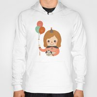 ballon Hoodies featuring Hold The Happy Ballon by Minifanfan