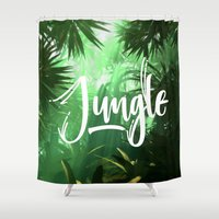 jungle Shower Curtains featuring Jungle by Insait
