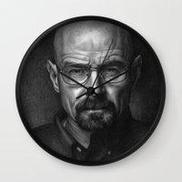 heisenberg Wall Clocks featuring Heisenberg by Mike Robins