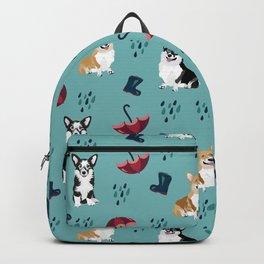 Bad Weather Day - Corgis in the rain  Backpack