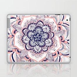 Woven Dream - Mandala in Pink, White and deep Purple Laptop & iPad Skin