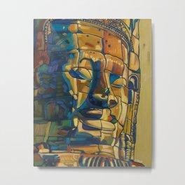 Khmer smile oil painting Metal Print