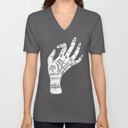 Palm Reading Unisex V-Neck