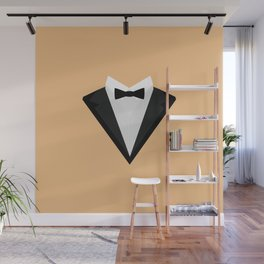 Black Tuxedo Suit with bow tie T-Shirt D946n Wall Mural
