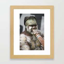 Didge Player Framed Art Print